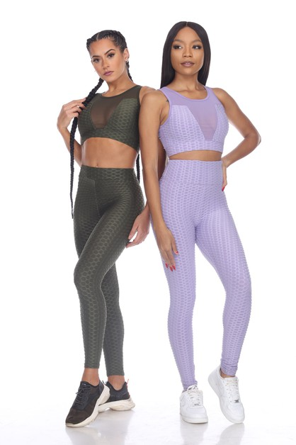 POPCORN TEXTURED ACTIVE LEGGING - orangeshine.com