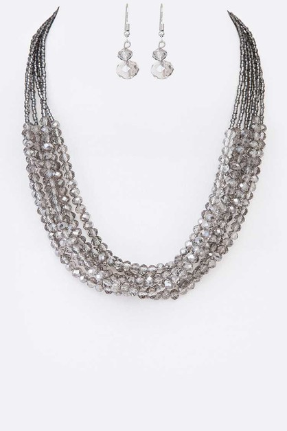 Crystal Layer Necklace Set - orangeshine.com