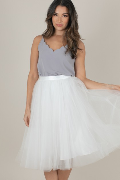 White Tulle Skirt - orangeshine.com