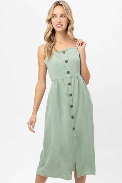 CASUAL BUTTONED DRESS - orangeshine.com