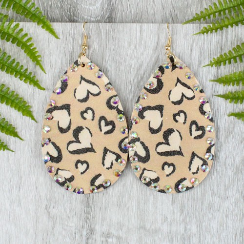 Leopard Gem Earrings - orangeshine.com