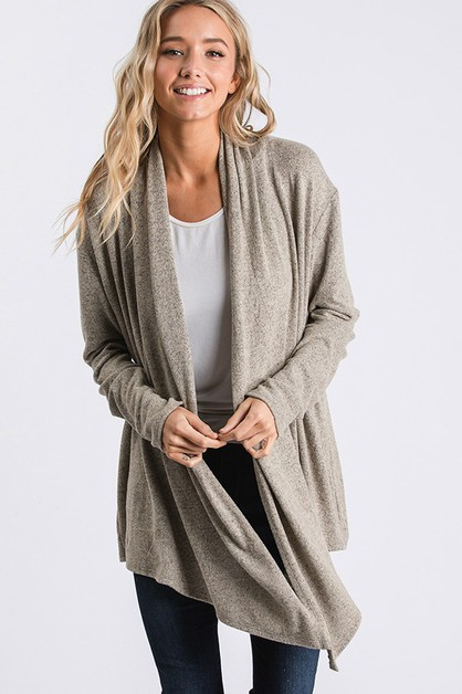Draped Open-Front Cardigan - orangeshine.com