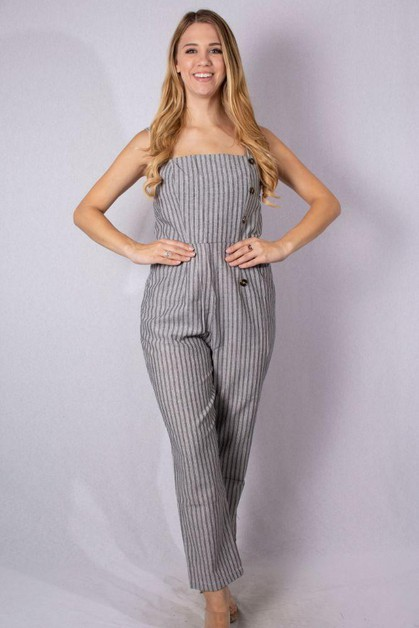 Jumpsuit with Button Detail - orangeshine.com