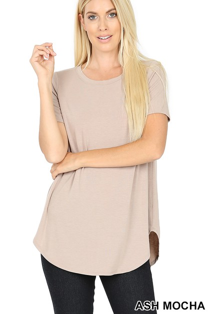 ROUND NECK ROUND HEM TOP - orangeshine.com