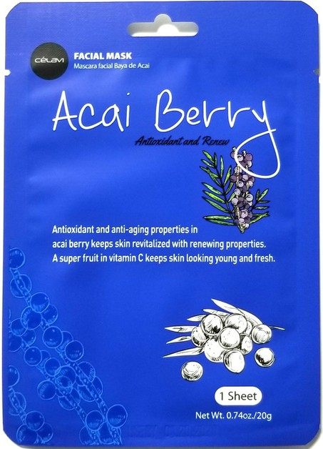 CELAVI FACIAL MASK ACAI BERRY - orangeshine.com