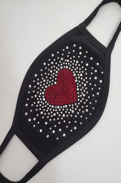 RED HEART Scattered Mask - orangeshine.com