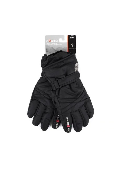 Mens Ski Winter Gloves - MSK01-BK - orangeshine.com
