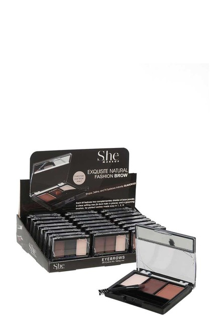 SHE MAKEUP EYEBROW POWDER KIT 24 PCS - orangeshine.com