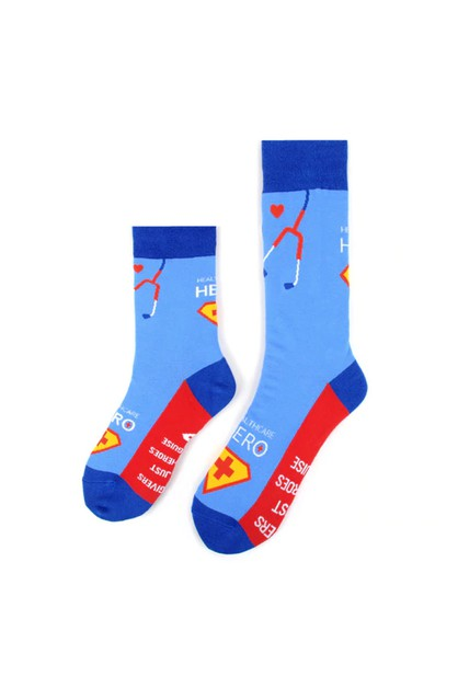 Health Care Heroes Superheroes Socks - orangeshine.com