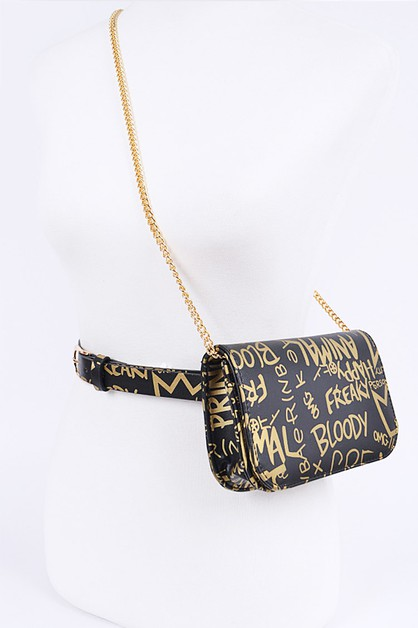 Graffiti Convertible Crossbody Fanny - orangeshine.com