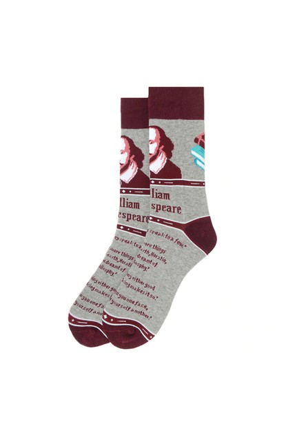 Mens Shakespeare Novelty Socks - orangeshine.com