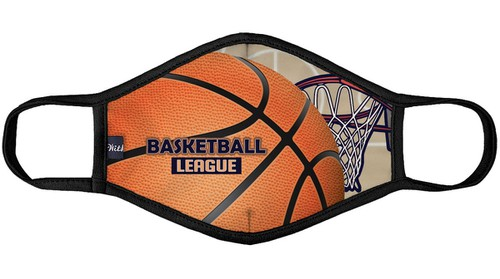 Basketball League Print Face Mask - orangeshine.com