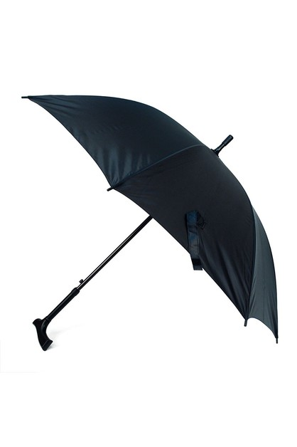 Black Canopy Walking Cane Umbrella - orangeshine.com
