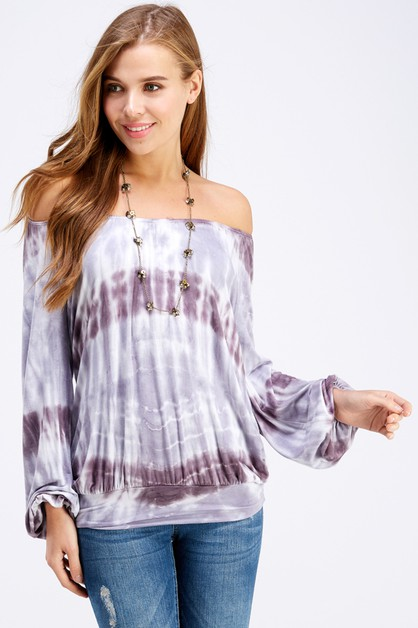 Off the shoulder Tri color tunic top - orangeshine.com