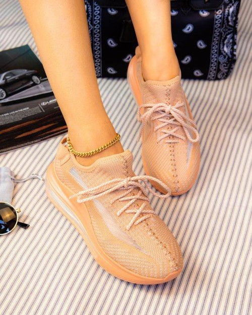 Colorful lace up snakers - orangeshine.com