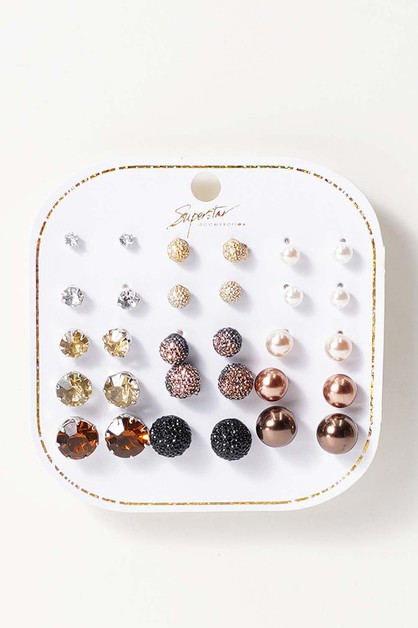 15 Pair Earrings - orangeshine.com