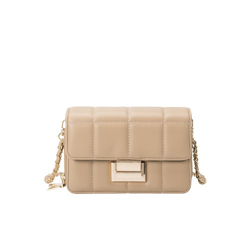 Julianna Vegan Crossbody Bag in Tan - orangeshine.com