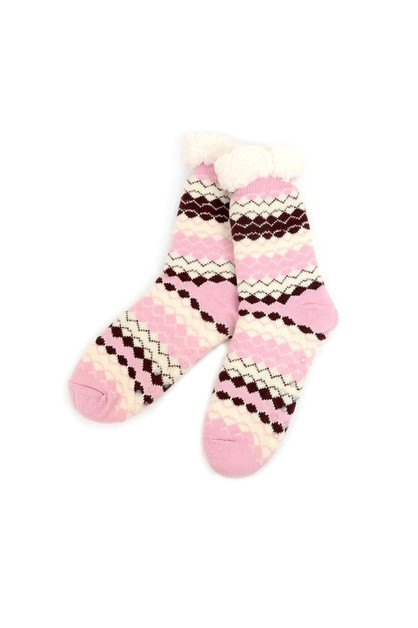 Womens Plush Sherpa Fleece Socks - orangeshine.com