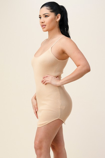Glam Bodycon Knit Mini Dress - orangeshine.com