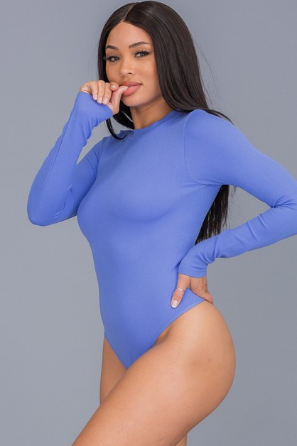 Bodysuit Solid Long Sleeve Bodysuit - orangeshine.com