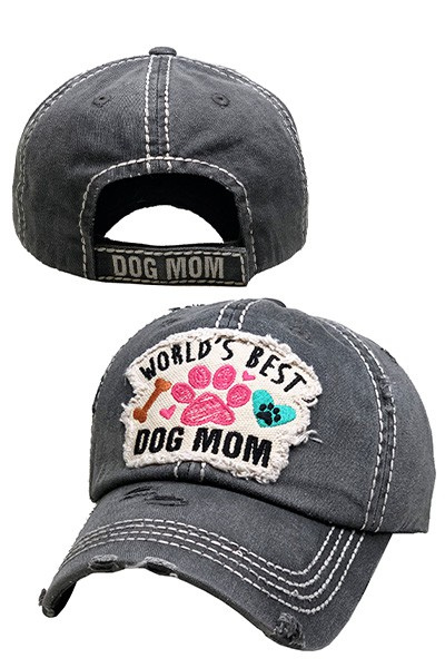 Worlds Best Dog Mom Hat - orangeshine.com