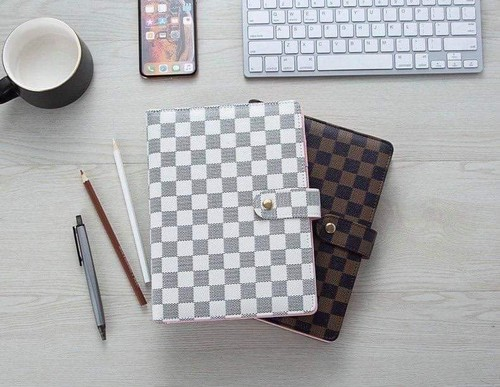 Checkered planners Agenda with pages - orangeshine.com
