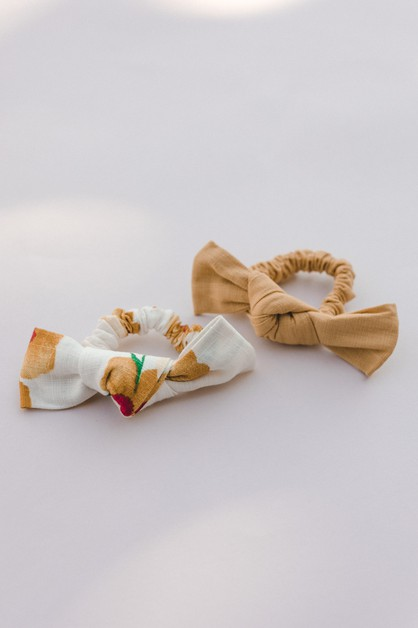 Linen Bow Scrunchie - orangeshine.com