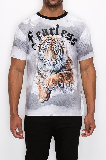 MEN FEARLESS LION T-SHITRS - orangeshine.com