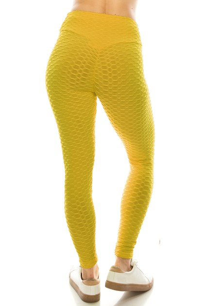 Popcorn scrunch fashion legging - orangeshine.com