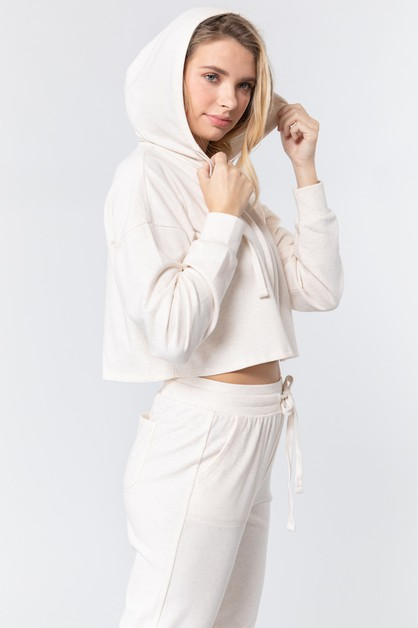 Cropped Zip Up Hoodie - orangeshine.com