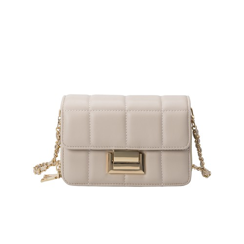 Julianna Vegan Crossbody Bag in Bone - orangeshine.com