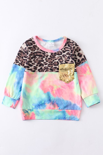 Tie dye leopard mommy and me shirt - orangeshine.com