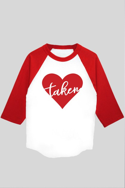 Taken Heart Graphic Baseball Tee - orangeshine.com
