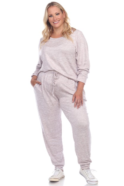 Plus Size 2 Piece Lounge Set - orangeshine.com