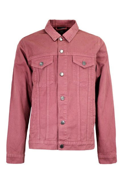 MEN COLORED DENIM JACKET - orangeshine.com