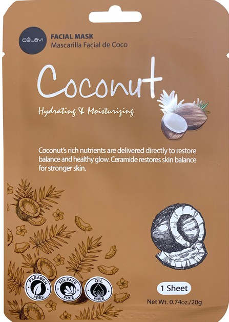 CELAVI FACIAL MASK RICE COCONUT - orangeshine.com