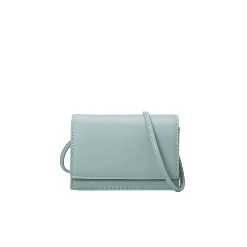 Gina Small Vegan Crossbody Bag in Mint - orangeshine.com