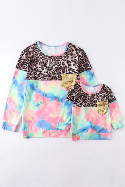 Tie dye leopard shirt For Adult - orangeshine.com