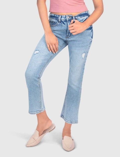 WOMENS STRETCH LIGHT BLUE DENIM PANT - orangeshine.com