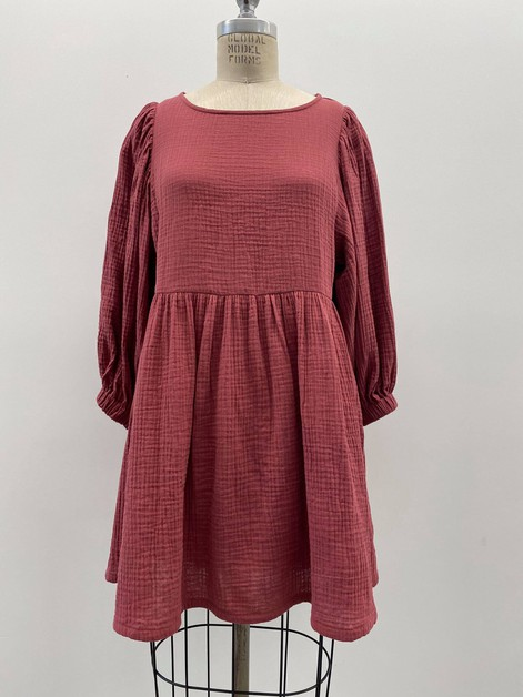 COTTON LINEN BABYDOLL DRESS - orangeshine.com