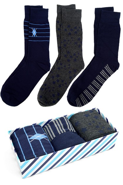 Fancy Multi Colored Socks Gift Box - orangeshine.com