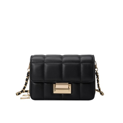 Julianna Vegan Crossbody Bag in Black - orangeshine.com