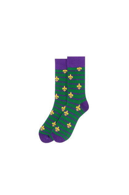 Mens Mardi Gras Novelty Socks  - orangeshine.com