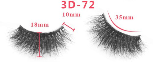 3D False Real Mink Fur Eyelashes  - orangeshine.com