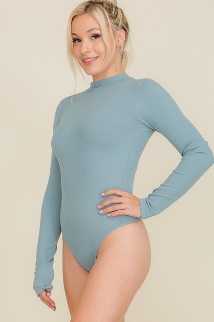 Women Ripped Long Sleeve Bodysuit - orangeshine.com