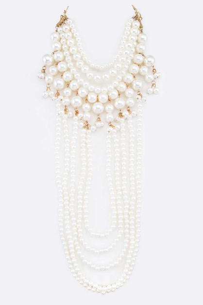 Convertible Pearl Choker Layer NK - orangeshine.com