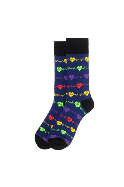 Mens Heart Monitor Novelty Socks - orangeshine.com