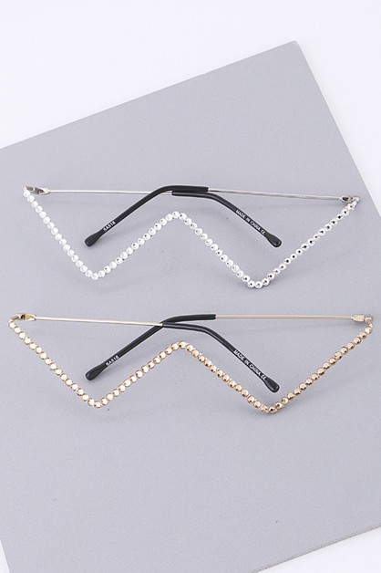 Crystal Decorative Frame Glasses - orangeshine.com