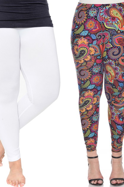 Pack of 2 Plus Size Leggings - orangeshine.com