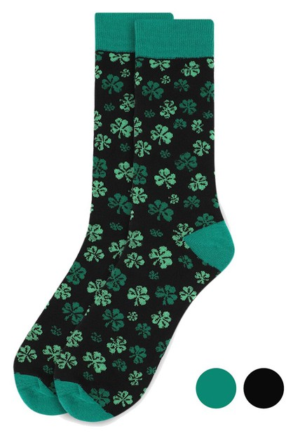 Mens Clover Novelty Socks - orangeshine.com